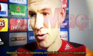 """Robben'den Beşiktaş sözleri: """"Kek üzerine krema"""""""
