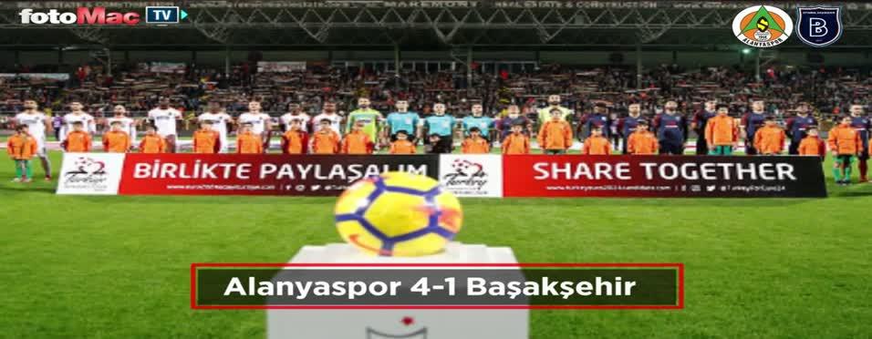 Alanyaspor - Başakşehir maçı özeti
