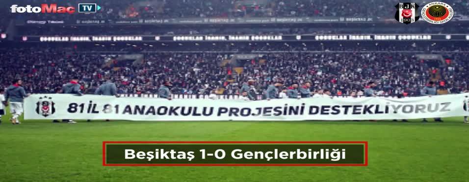 Beşiktaş - Gençlerbirliği maçı özeti