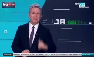 TRT spikerinden derbi gafı