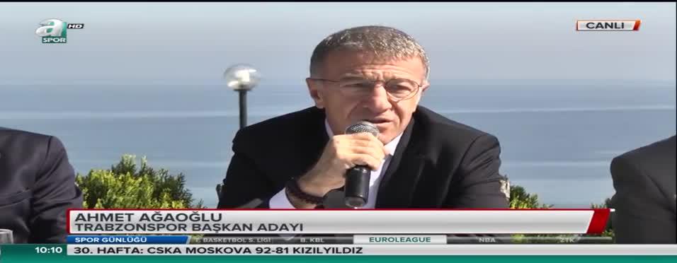 """Trabzonspor başkan adayı Ahmet Ağaoğlu: """"Seçilirsem o borcu ödeyeceğim"""""""