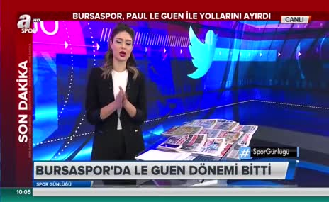 Bursaspor'da Le Guen'le yollar ayrıldı