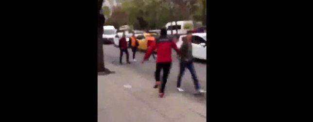 G.Saraylı taraftarlara Ankara'da çirkin saldırı