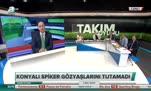 Konya'da ligde kalma sevinci! Muhabir gözyaşlarını tutamadı