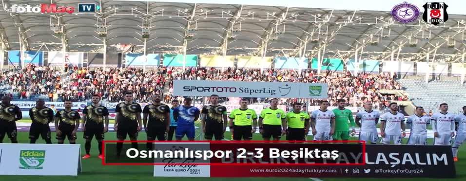 Osmanlıspor - Beşiktaş maçından kareler