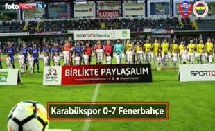 Karabükspor - Fenerbahçe maçından kareler