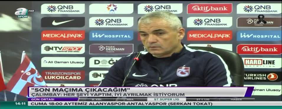 Rıza Çalımbay Trabzonspor'a veda etti