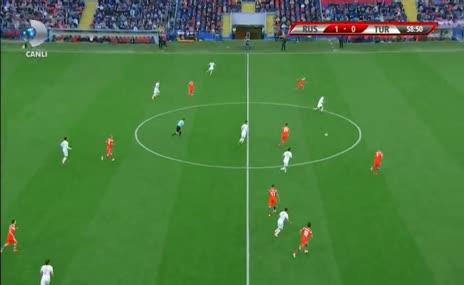 GOL: Yunus Mallı (59') Rusya 1-1 Türkiye