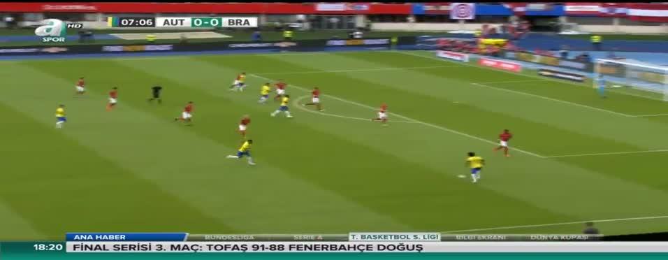 Avusturya: 0 - Brezilya: 3 (Özet)